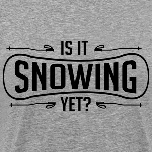 Skiing: is it snowing yet T-Shirts - Men's Premium T-Shirt