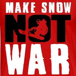 Skiing: make snow not war T-Shirts - Men's Premium T-Shirt