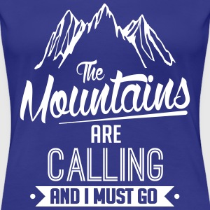 Skiing: the mountains are calling T-Shirts - Women's Premium T-Shirt