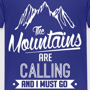 Skiing: the mountains are calling Kids' Shirts - Kids' Premium T-Shirt