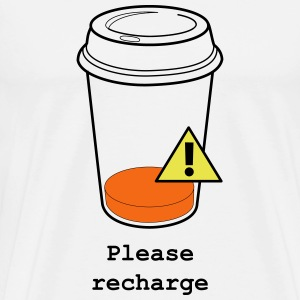 Coffee Cup - Recharge - Men's Premium T-Shirt