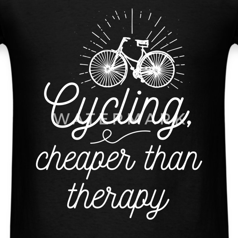 Cycling, cheaper than therapy - Men's T-Shirt