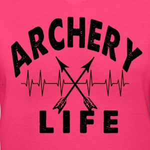 Archery Life Heartbeat Shirt - Women's V-Neck T-Shirt