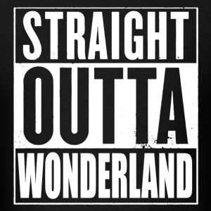 Straight Outta Wonderland Alice Design T-Shirts - Men's T-Shirt