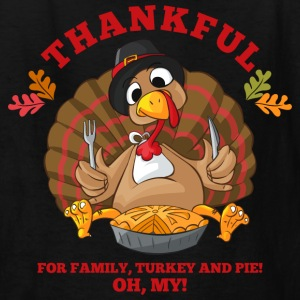 Thankful Family Turkey Pie Kids' Shirts - Kids' T-Shirt