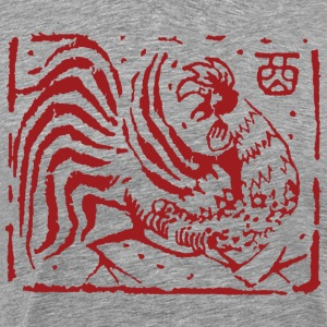 Chinese Zodiac Rooster Abstract - Men's Premium T-Shirt