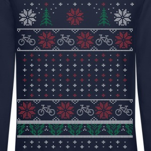Ugly Xmas Cycling Long Sleeve Shirts - Crewneck Sweatshirt
