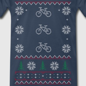 Ugly Xmas Sweater Cycle T-Shirts - Men's Premium T-Shirt