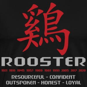 Chinese Zodiac Rooster Traits - Men's Premium T-Shirt