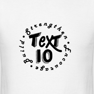 TXT10 W/BLK TXT - Men's T-Shirt
