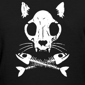 Cat and Crossbones - Women's T-Shirt