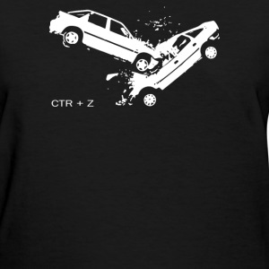 Car Crash accident - Undo CTRL Z - Women's T-Shirt