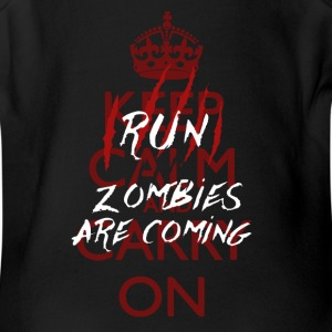 Keep Calm - Run, Zombies Are Coming Baby Bodysuits - Short Sleeve Baby Bodysuit