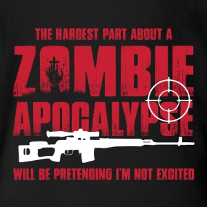 Zombie Apocalypse Being Excited For Zombie Hunters Baby Bodysuits - Short Sleeve Baby Bodysuit