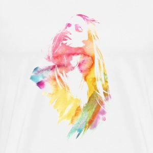 Watercolor Girl - Men's Premium T-Shirt