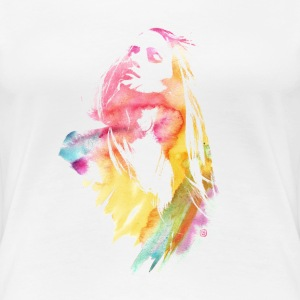 Watercolor Girl - Women's Premium T-Shirt