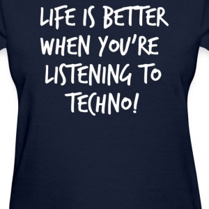 TECHNO SLOGAN - Women's T-Shirt