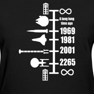 Spaceship Timeline - Women's T-Shirt