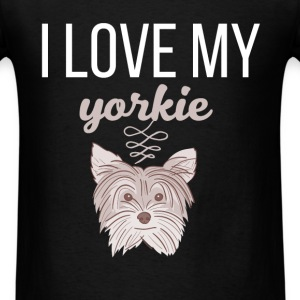 I love my Yorkie - Men's T-Shirt