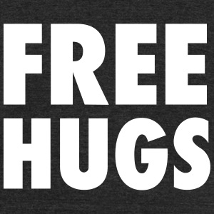 Free Hugs Design - Unisex Tri-Blend T-Shirt by American Apparel