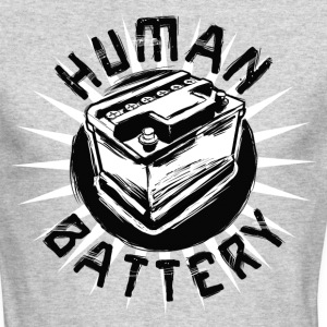 human battery manji.png Long Sleeve Shirts - Men's Long Sleeve T-Shirt by Next Level