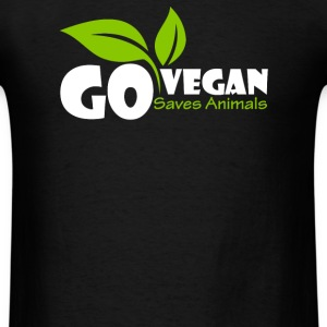 Go Vegan and Saves Animal - Men's T-Shirt
