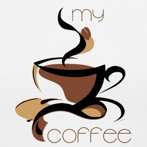 my coffee - Women's V-Neck T-Shirt
