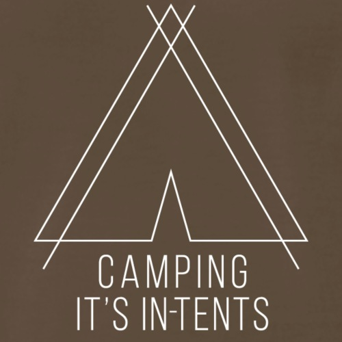 camping is in-tents white