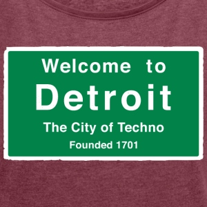 Detroit The City of Techno - Women´s Rolled Sleeve Boxy T-Shirt