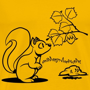 Squirrel witty nutcracker wait T-Shirts - Men's Premium T-Shirt
