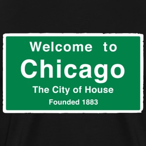 Chicago The City of House - Men's Premium T-Shirt