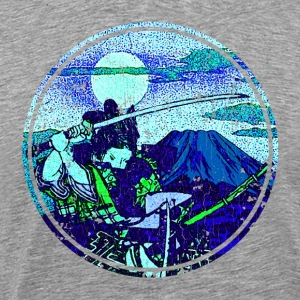 Midnight Samurai (vintage look) - Men's Premium T-Shirt