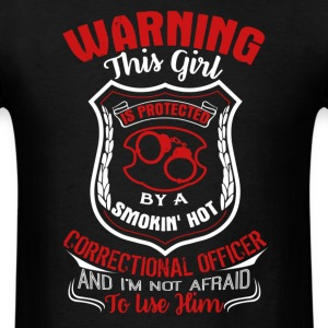 Protected By A Correctional Officer Shirt - Men's T-Shirt