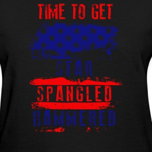 Time To Get Star Spangled Hammered Flug - Women's T-Shirt