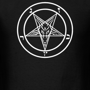 pentagram baphomet - Men's T-Shirt