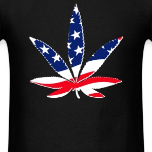 weed flagged - Men's T-Shirt