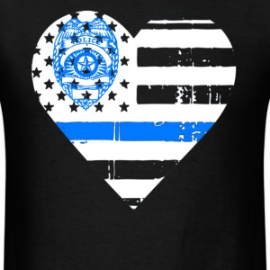 Police Thin Blue Line T shirts - Men's T-Shirt