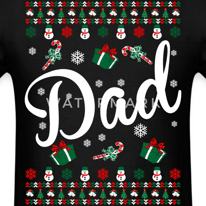Dad Ugly Christmas Sweater T-Shirts - Men's T-Shirt