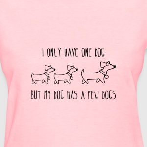 I only have one dog, but my dog has a few dog - Women's T-Shirt