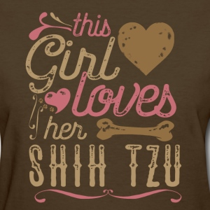 This Girl Loves Her Shih Tzu Shirt T-Shirts - Women's T-Shirt