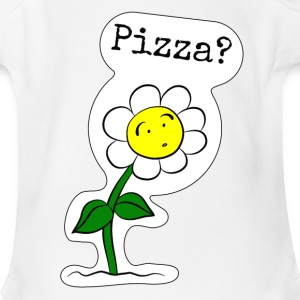 Sunflower-Pizza - Short Sleeve Baby Bodysuit