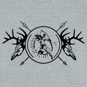 True Hunter Black T-Shirts - Unisex Tri-Blend T-Shirt by American Apparel
