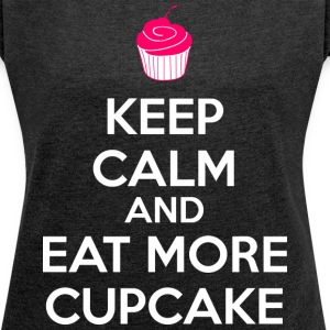 Eat More Cupcake T-Shirts - Women´s Rolled Sleeve Boxy T-Shirt