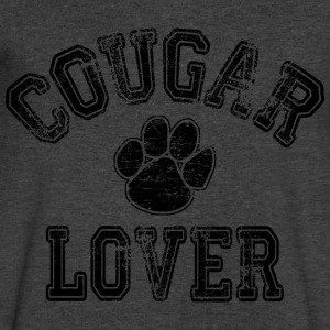 Cougar Lover T-Shirts - Men's V-Neck T-Shirt by Canvas