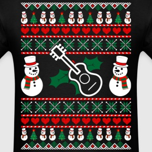 Guitarist Ugly Christmas Sweater T-Shirts - Men's T-Shirt