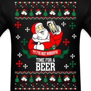 It's the Most Wonderful Time For A Beer Ugly Chris T-Shirts - Men's T-Shirt
