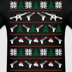 AR 15 Ugly Christmas Sweater T-Shirts - Men's T-Shirt