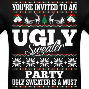Party Ugly Christmas Sweater T-Shirts - Men's T-Shirt