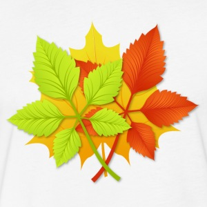 Autumn leaves T-Shirts - Fitted Cotton/Poly T-Shirt by Next Level