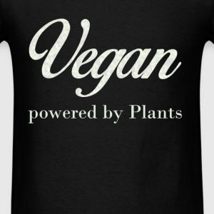 Vegan. Powered by Plants. - Men's T-Shirt
